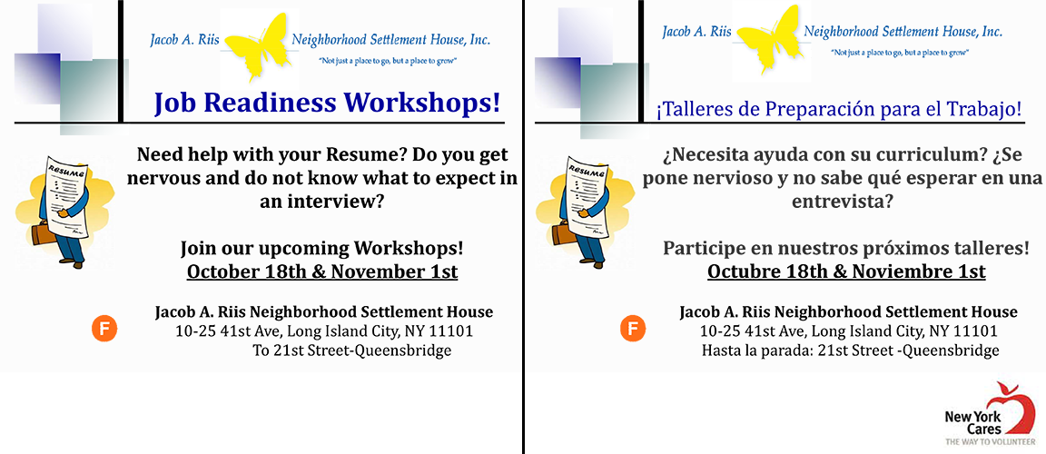 Upcoming Events Job Readiness Workshops Skills Identification and