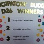 Participatory budgeting winners chart