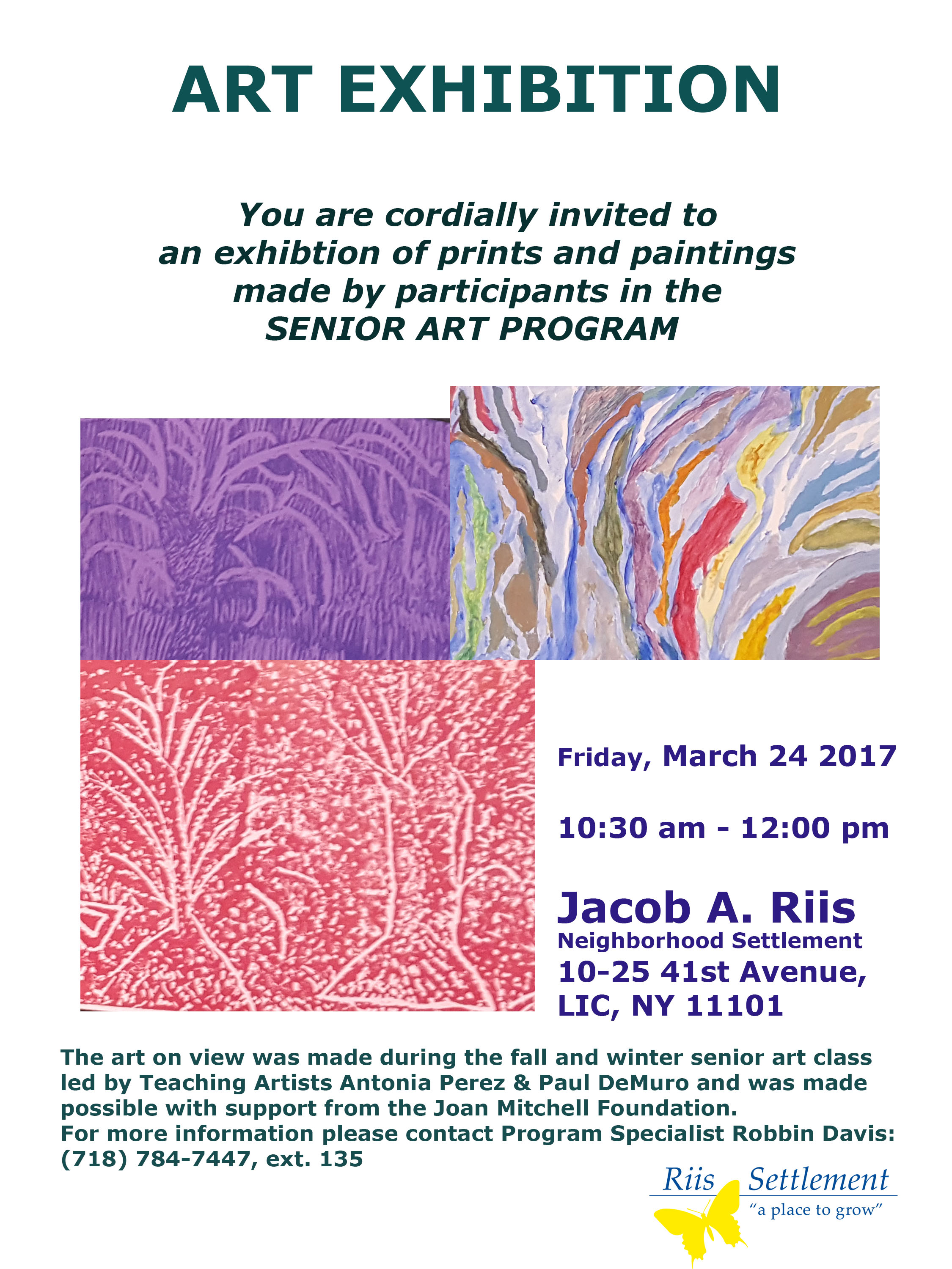 Senior Art Exh-Announcement