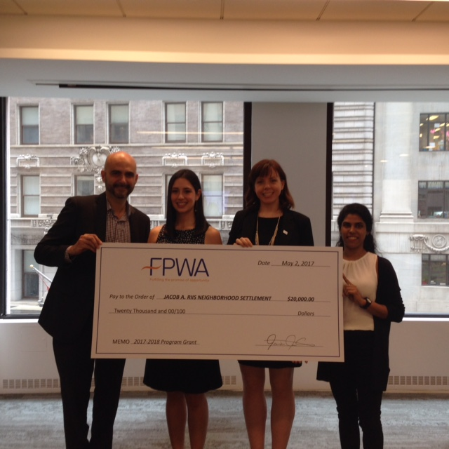 Riis Settlement was a winner of this year's FPWA Program Grant Awards for $20,000
